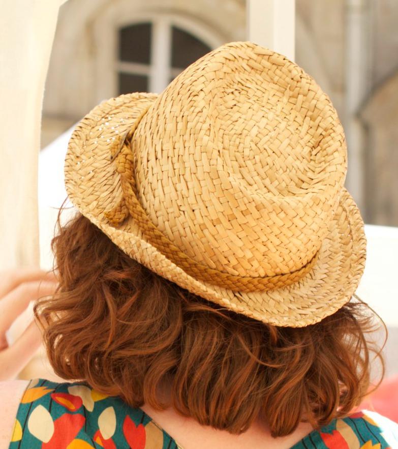 décorer un chapeau de paille