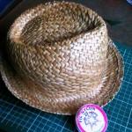 chapeau de paille et nylon