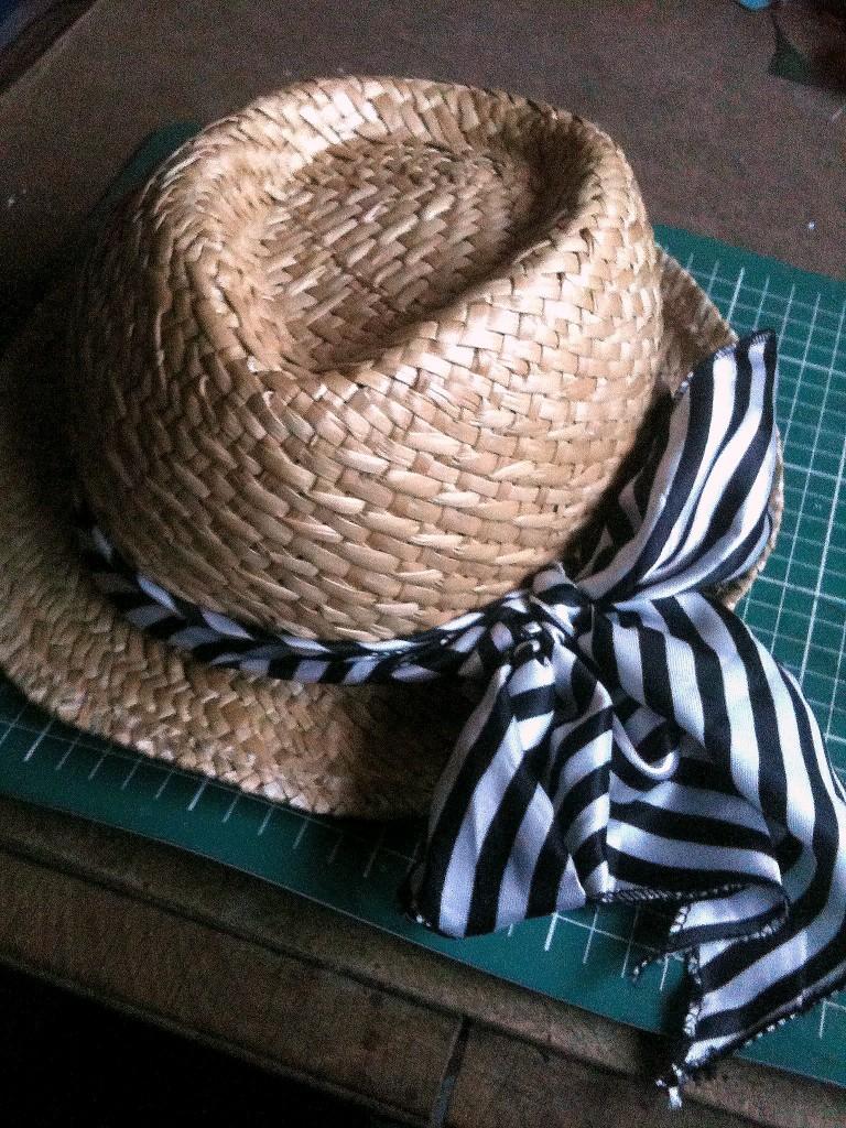chapeau de paille ruban