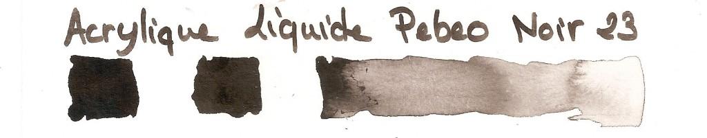 acrylique liquide Pebeo noir 23