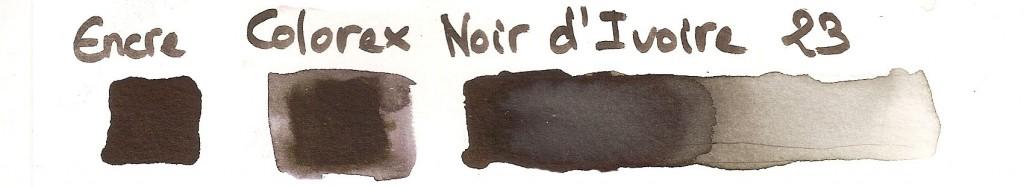 encre Colorex Pebeo noir d'ivoire 23