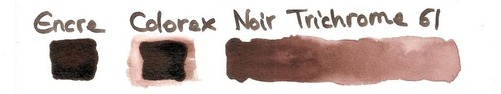 encre Colorex Pebeo noir trichrome 61