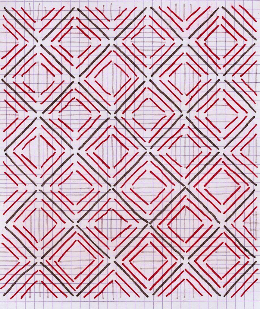 Tisser un tapis- le motif à tisser