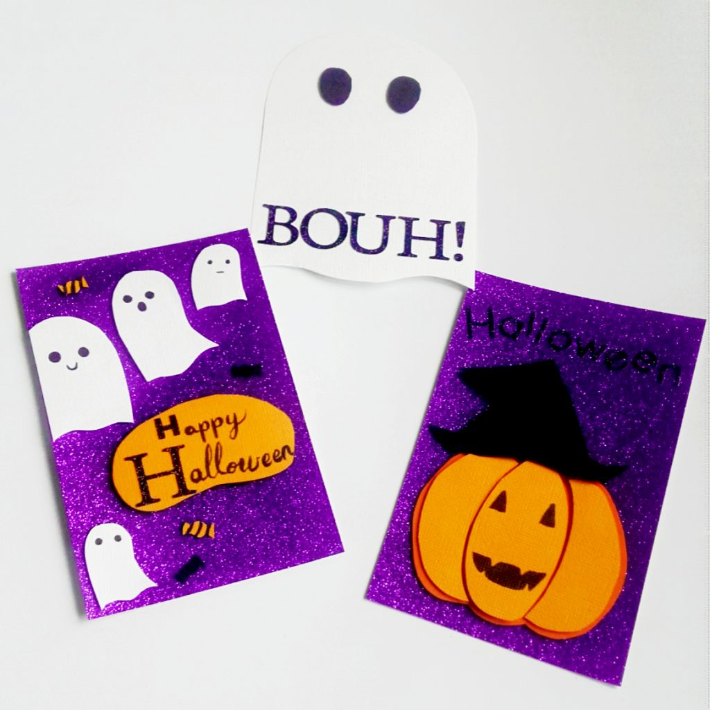 cartes d'halloween en scrapbooking